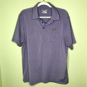 Under Armour Heather Stripe Men's Golf Polo Shirt